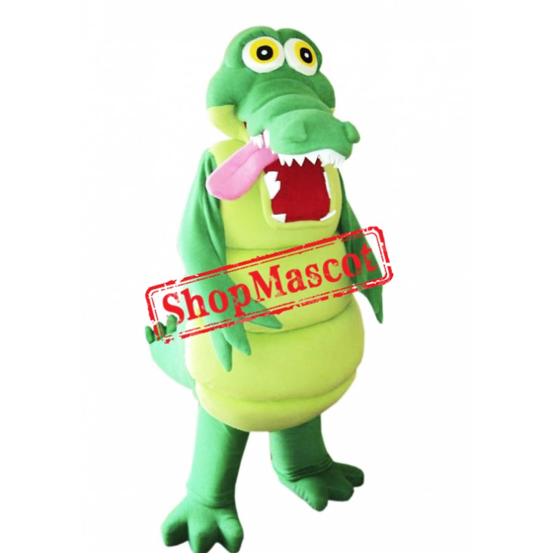 Happy Lightweight Alligator Mascot Costume Free Shipping