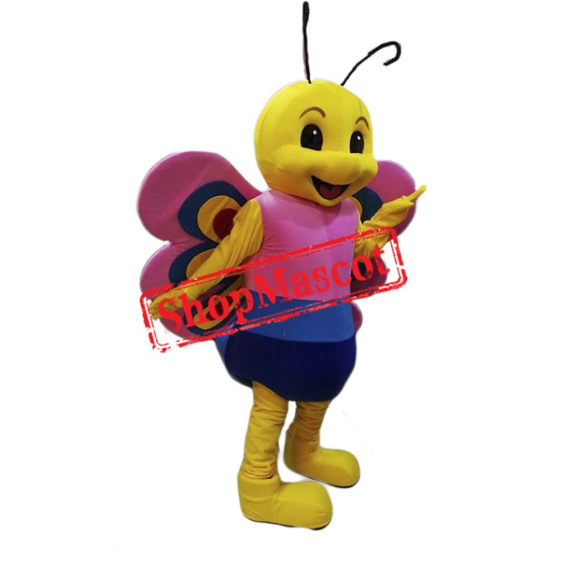 Friendly Lightweight Butterfly Mascot Costume