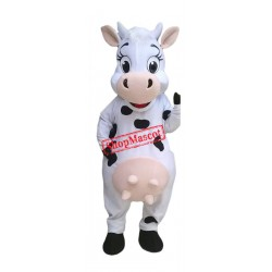 Happy Lightweight Cow Mascot Costume Free Shipping