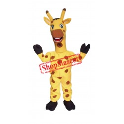 Friendly Lightweight Giraffe Mascot Costume