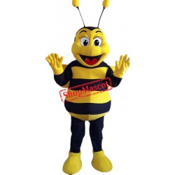 Happy Bee Mascot Costume Free Shipping