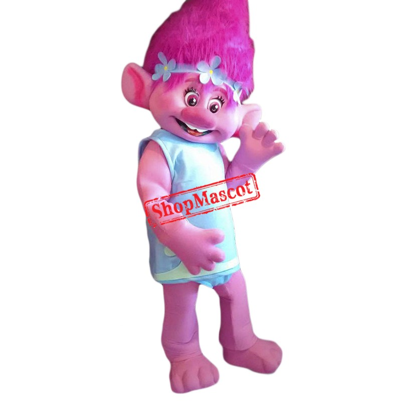 High Quality Poppy Troll Mascot Costume