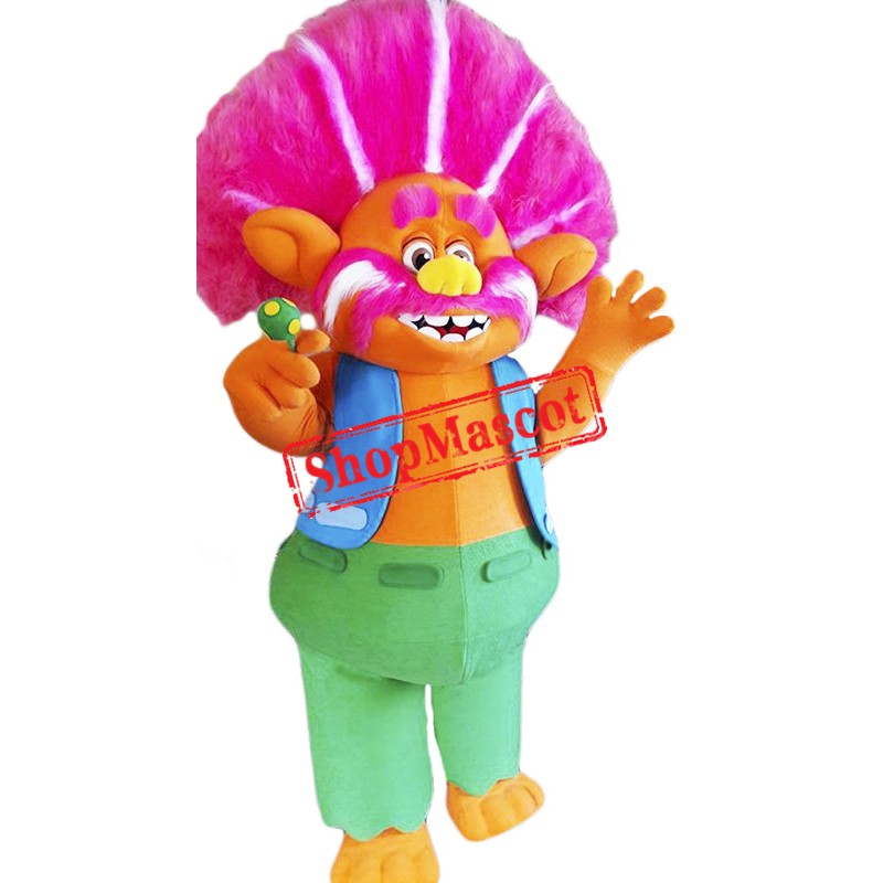 High Quality King Peppy Troll Mascot Costume