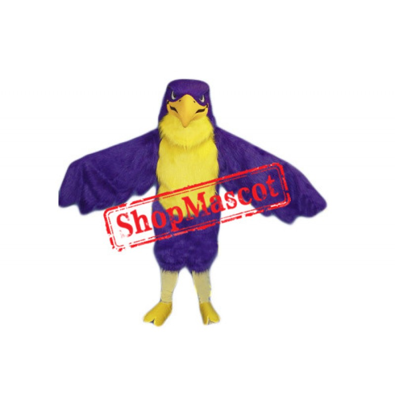 Purple Falcon Mascot Costume