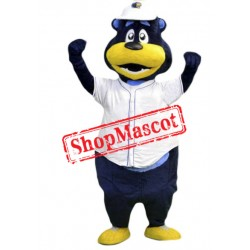 Happy Baseball Bear Mascot Costume