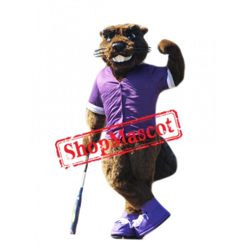 College Beaver Mascot Costume Free Shipping