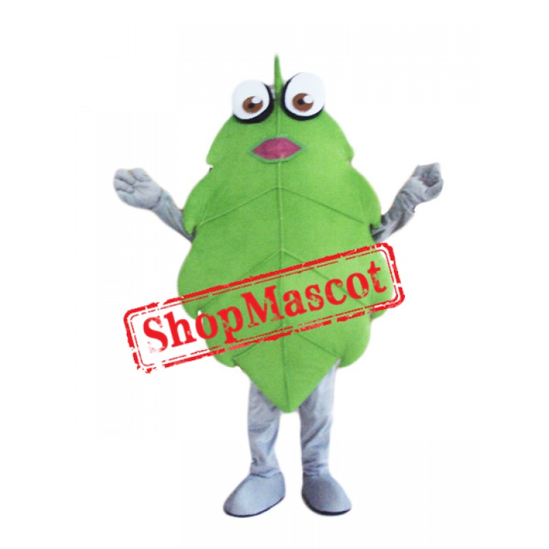 Green Leaves Mascot Costume