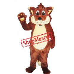 Happy Red Fox Mascot Costume