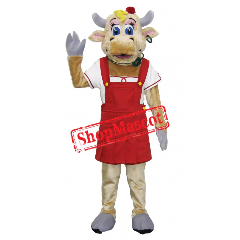 High Quality Female Cow Mascot Costume