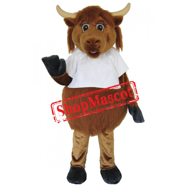 Cute Furry Cow Mascot Costume