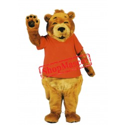 Smiling Bear Mascot Costume