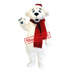 Happy Lightweight Polar Bear Mascot Costume