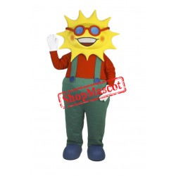Smiling Lightweight Sun Mascot Costume