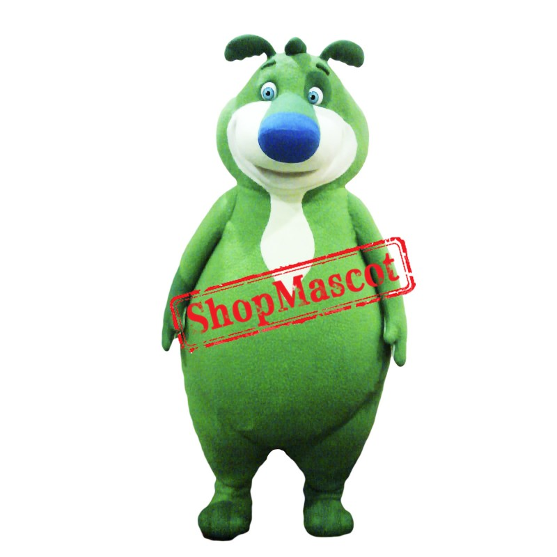 Cute Green Bear Mascot Costume