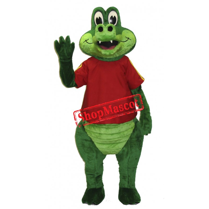 Happy Lightweight Crocodile Mascot Costume
