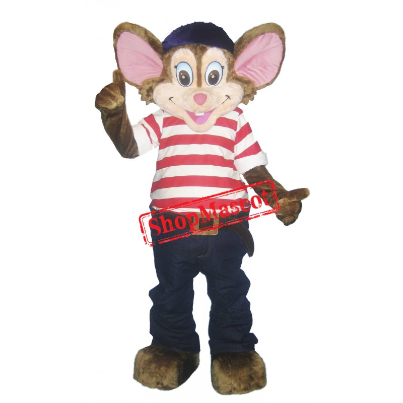 Happy Lightweight Mouse Mascot Costume Free Shipping