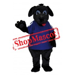 College Black Dog Mascot Costume