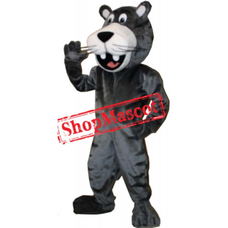 Happy Black Panther Mascot Costume