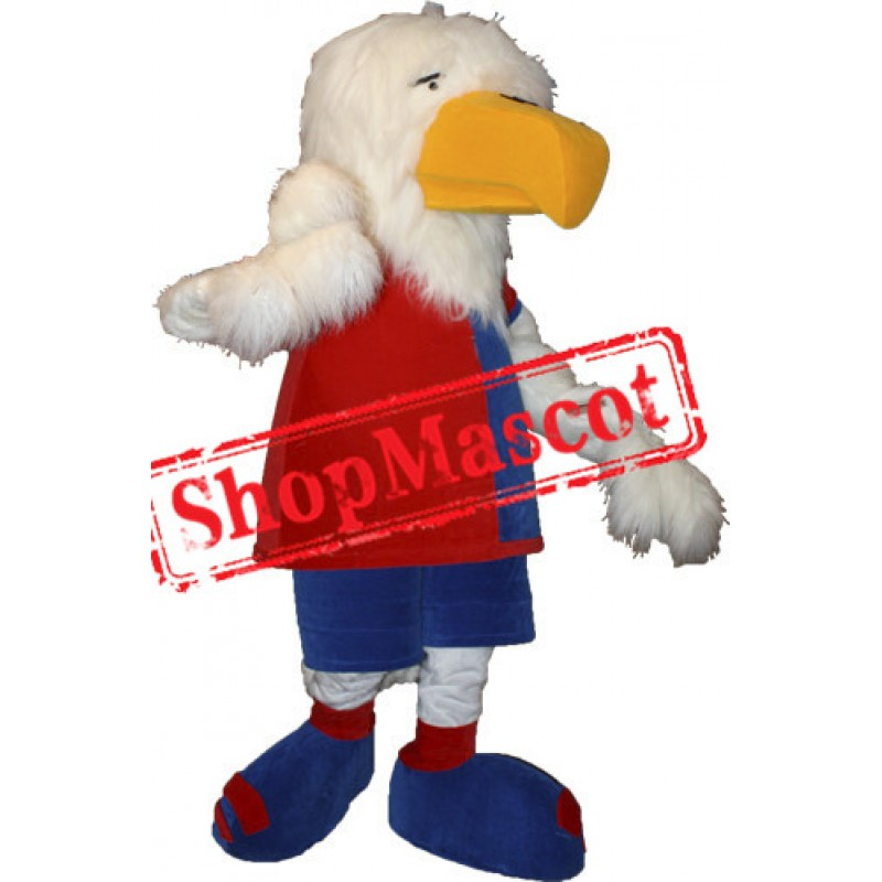 Cute White Eagle Mascot Costume