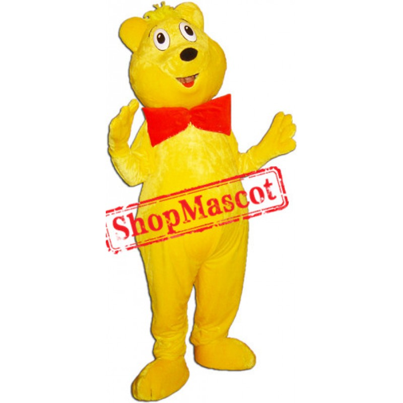 Yellow Lightweight Bear Mascot Costume