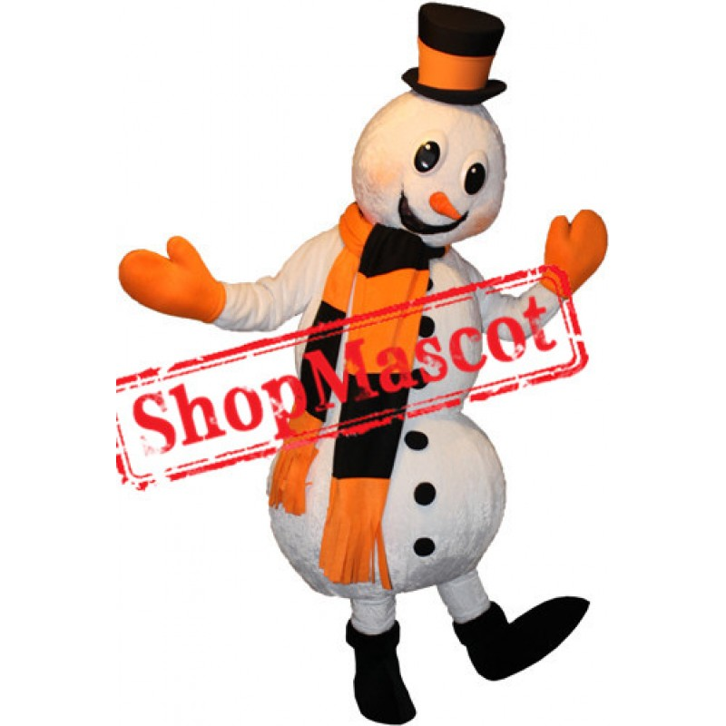 Happy Lightweight Snowman Mascot Costume