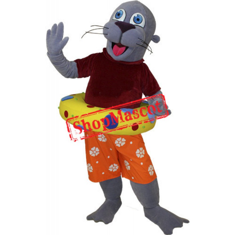 Happy Lightweight Sea Lion Mascot Costume