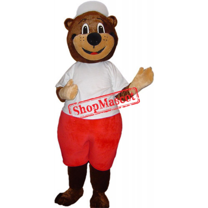 College Sport Bear Mascot Costume Free Shipping
