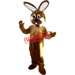 Brown & White Rabbit Mascot Costume