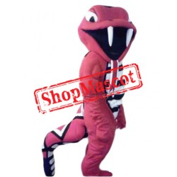 Fierce Red Cobra Mascot Costume