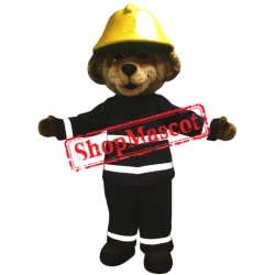 Fire Safety Bear Mascot Costume