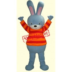 High Blue Bunny Mascot Costume