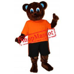Sport Brown Bear Mascot Costume