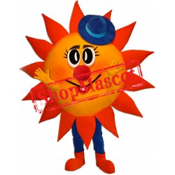 Happy Lightweight Sun Mascot Costume