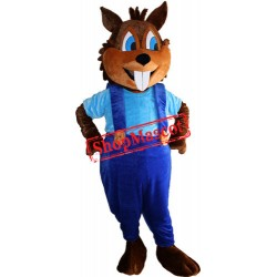 Happy Squirrel Mascot Costume Free Shipping