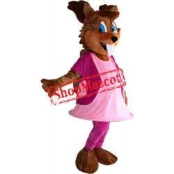 Girl Squirrel Mascot Costume