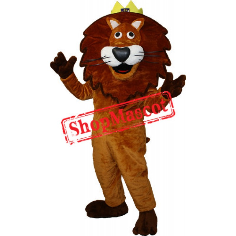 Happy Lightweight King Lion Mascot Costume