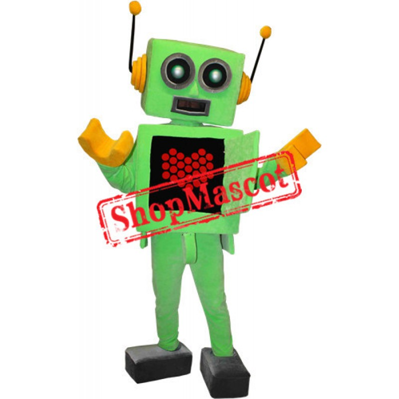 Happy Lightweight Robot Mascot Costume