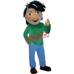 Handsome Boy Mascot Costume