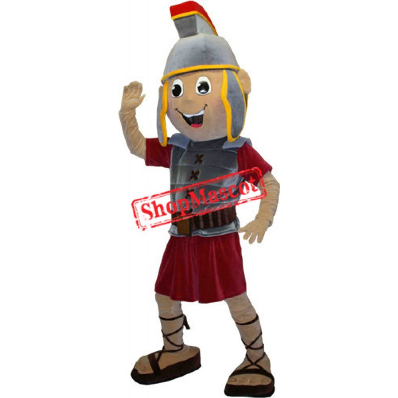 Happy Spartan Trojan Knight Mascot Costume