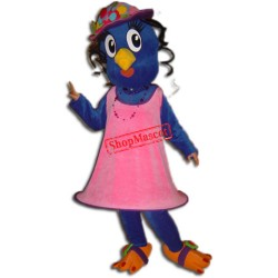 Blue Girl Bird Mascot Costume