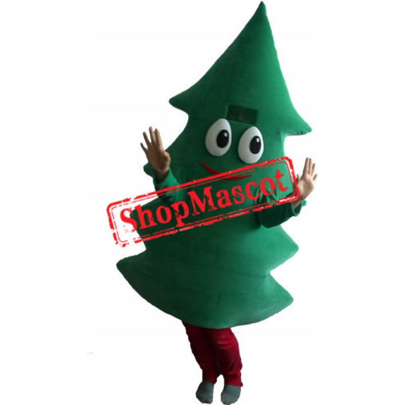 Happy Christmas Tree Mascot Costume