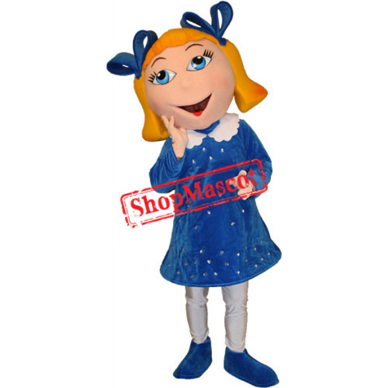 Beautiful Girl Mascot Costume Free Shipping