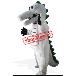Grey Crocodile Mascot Costume