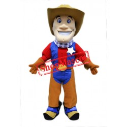 Happy Lightweight Cowboy Mascot Costume