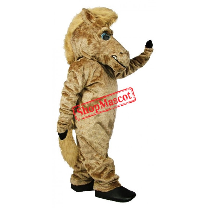 High Quality Brown Furry Horse Mascot Costume