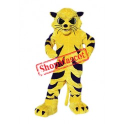 Yellow Wildcat Mascot Costume