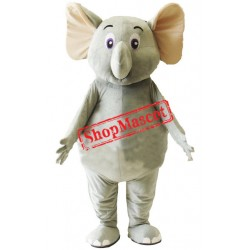 Little Cute Grey Elephant Mascot Costume