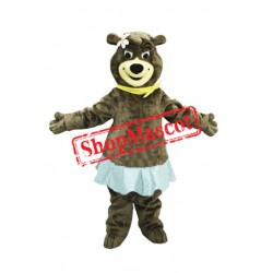 Beautiful Female Bear Mascot Costume