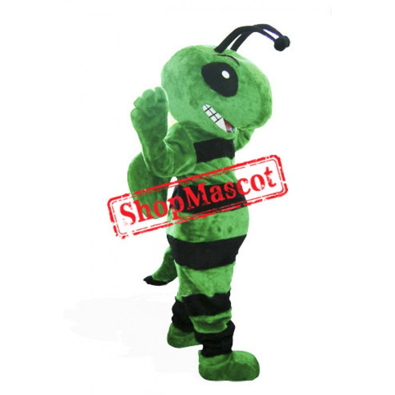 Friendly Green Bee Mascot Costume
