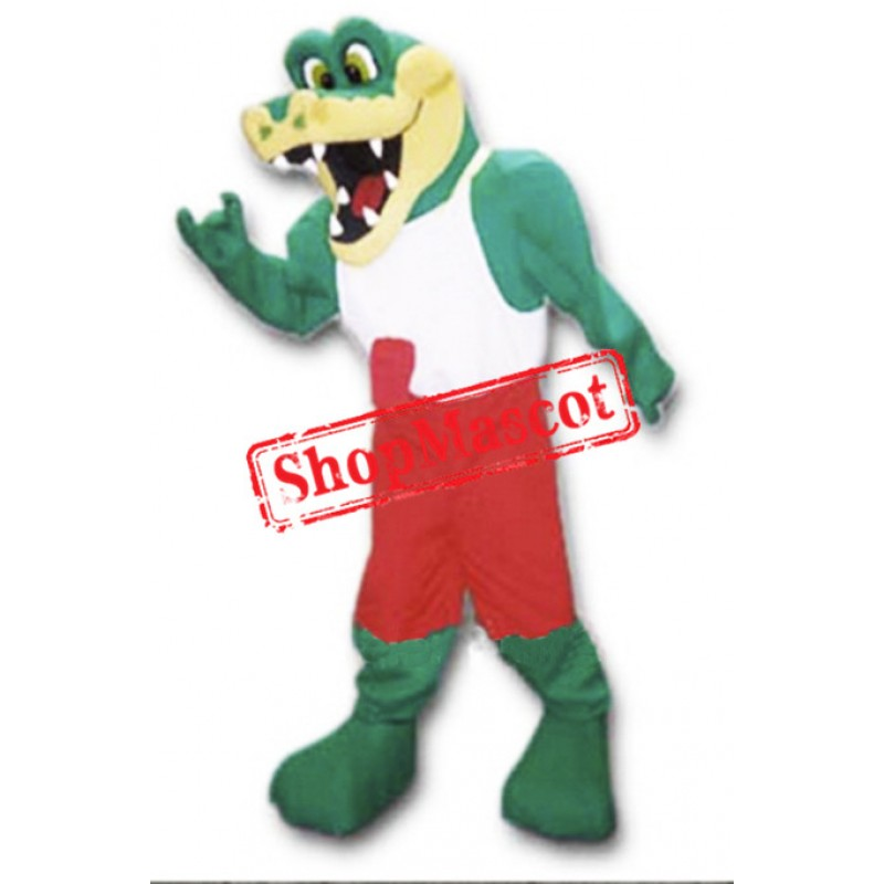 Friendly Lightweight Gator Mascot Costume
